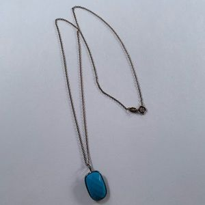 Sterling necklace with blue stone pendent